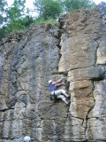 Left Unconquerable - Peri decides to layback the jamming crack, for reasons best known to herself!