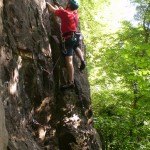 Rob starting the excellent \'The Bone\' E1 5b
