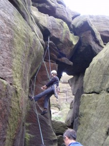 Carmen rests on Lancet Crack VS 5A