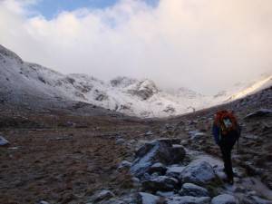 Rob on the way up Deepdale