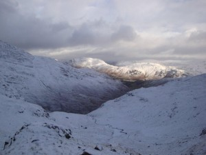 Looking back down Deepdale