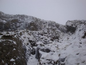 Bits of ice on Hart Crag