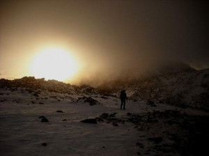 Scafell sunset