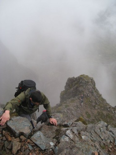 Ben on the final stretch of Curved Ridge
