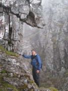 Simon below Crowberry Tower