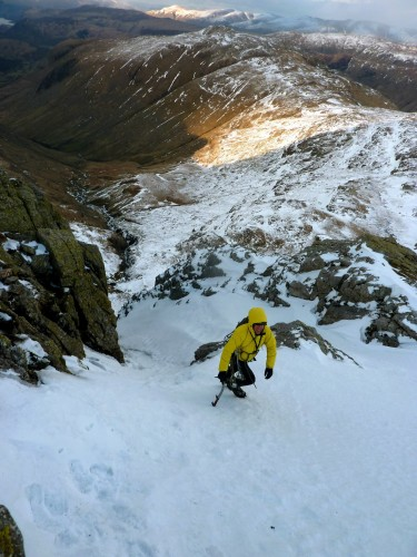 Rob topping out on South East Gully.
