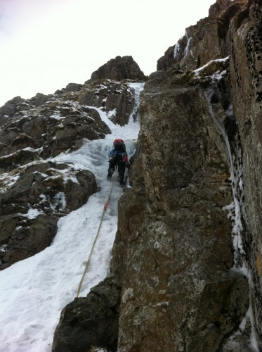 Jamie on pitch one of Window Gully.