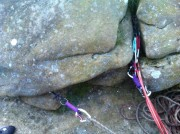 Super safe on this 6-cam belay.