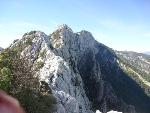 View along ridge - spot Simon