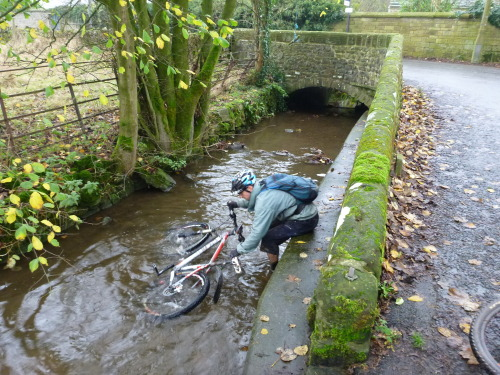 Post ride bike wash - Dales style .