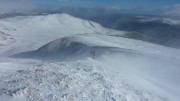 Ascending Ben Lawers - spindrift