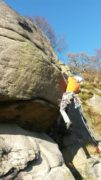 Mike wrestling with Block Buttress