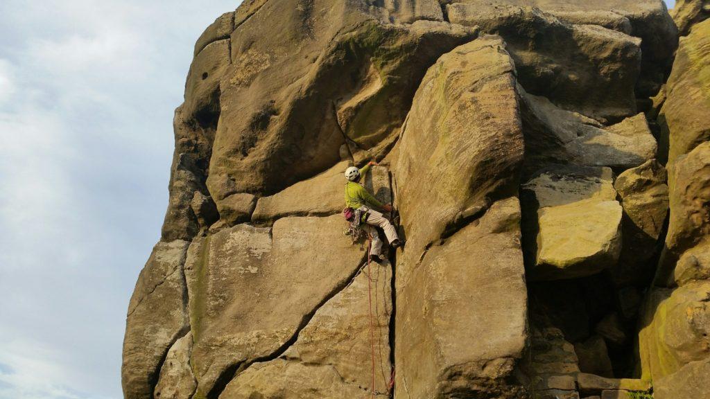 Rob climbing